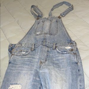 Light washed overalls. LUCKY BRAND